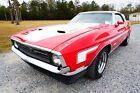 1971 Ford Mustang Red with White Trim